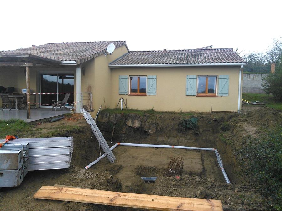 Piscines beton for Drainage piscine
